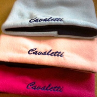 'Cavaletti' embroidered Fleecy Neck Warmers