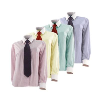 Long-Sleeved Vertical Striped Show Shirt