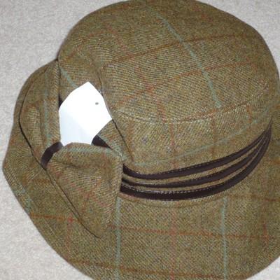 P J Powell Ladies' Tweed Country Hat