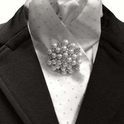 Crystal & Pearl Stock pin